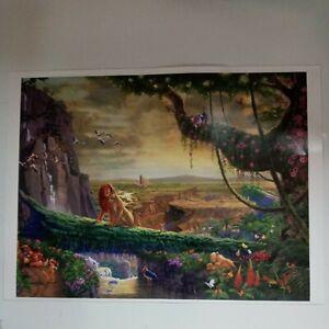 Thomas Kinkade Lion King 500 pc puzzle.