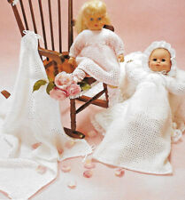 "Baby doll layette knitting pattern 16"", 20"", 24"" dolls 4 ply 706"