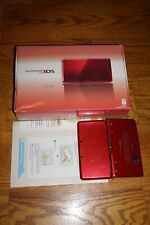 Nintendo 3DS FLAME RED Complete in Box Console System GREAT Shape