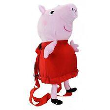 "Peppa Pig 15"" Plush Doll Soft Stuffed Toy Backpack-Peppa Pig Plush Backpack-NEW!"