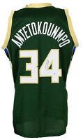 Giannis Antetokounmpo Signed Green Custom Greek Freak Basketball Jersey BAS ITP