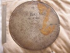 Antique Music Metal Disk Disc The Holy City S. Adams Swiss
