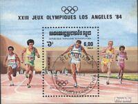 Kambodscha Block137 (kompl.Ausg.) gestempelt 1984 Olymp. Sommerspiele ´84, L. A.