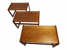 vildbjerg møbelfabrik Teak Set of 3 Nesting tables, Made In Denmark