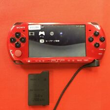 P11286 Sony PSP-3000 console Red x Black Handheld system Japan w/Battery