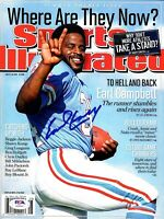 """EARL CAMPBELL Signed Autographed SI """"HOUSTON OILERS"""" PSA/DNA #AH64441"""