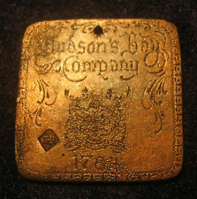 1784 HUDSON BAY FUR TRADE TRINKET  MEDAL HB TOUCH MARK 10 made Beavers