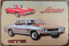 MONARO.  Garage Retro Vintage Metal Tin Sign Rustic Look .. MAN CAVE .AU SELLER