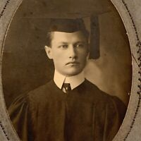 Antique Cabinet Card Photo Very Handsome Young Man Graduation Hat Gay Int