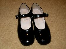STRIDE RITE Toddler DRESS Girls BLACK PATENT LEATHER Mary Jane SHOES sz 11.5M ec
