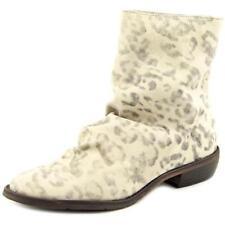 Botas de mujer de tacón medio (2,5-7,5 cm) de color principal blanco de piel