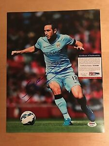 New York FC / Chelsea Soccer Player Frank Lampard Signed 11x14 Photo w PSA/DNA