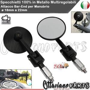 Coppia Specchietti Cafe Racer Retrovisori Scooter Specchi Moto Sport Custom D04