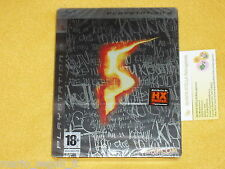 RESIDENT EVIL 5 LIMITED STEEL EDITION Playstation 3 PS3 v. ITALIANA NUOVA SIGILL
