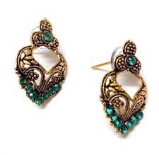 Golden Oxidized Women Earring Bali Jhumka Jhumki Jewelry PushBack Classy Gift 54