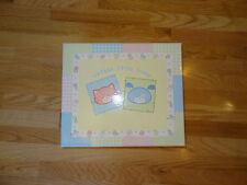 """Cutest Little Baby"" Large Keepsake Box Girl Boy Unisex Yellow Cat Dog 14 x11 x5"