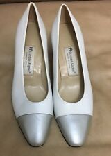 Etienne Aigner Heels Pumps Sz 8 M Two Tone Leather Uppers Marietta Women Shoes