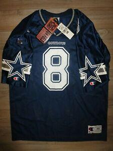 Troy Aikman #8 Dallas Cowboys NFL Champion Football Jersey 48 XL Mens NWT New