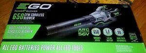 Ego LB6504 650CFM 56V Cordless Blower w/ Battery & Charger