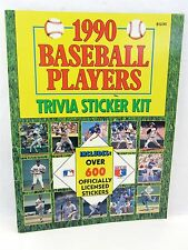 1990 Baseball Players Trivia Sticker Kit - 1,281 stickers opened ALL TEAMS