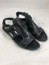 Givenchy Rubber Ankle Strap Sandals in Black Size 39