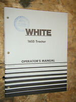 UP TO 1974 WHITE 1655 TRACTOR ORIGINAL FACTORY OWNERS OPERATORS MANUAL