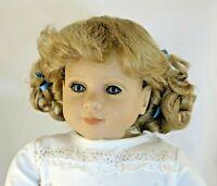 Kemper Originals Stephy Blonde Full Cap Doll Wig Size 14-15 Ponytails