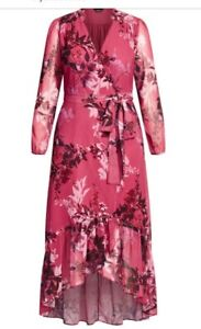 city chic maxi sunset floral in small 16 and large 20
