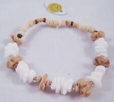12 New Natural Coco Bead & Puka Shell Bracelet #B1122