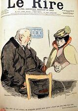 CARICATURE du RENTIER vieux général jeune femme HERMANN-PAUL chromo typo 1899