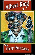 Albert King The Velvet Bulldozer Poster by Cadillac Johnson
