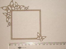 CHIPBOARD - SQUARE BUTTERFLY FRAME - CRAFTY ORIGINALS