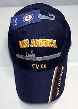 USS America CV 66 CVA Ball Cap Embroidered US Navy Veteran Aircraft Carrier Hat