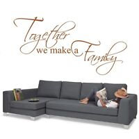 Wall Stickers Quotes Together we make a Family Wall Art Home Decor Decal kit33