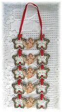 Vintage Cherub Angel Christmas Embossed Ornament Wall Hanging 1983