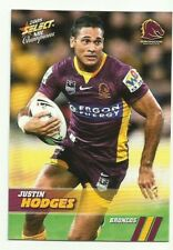 2008 NRL SELECT CHAMPIONS BRONCOS JUSTIN HODGES 7 COMMON BASE CARD FREE POST