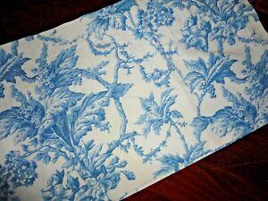 MARTHA STEWART FRENCH TOILE BLUE WHITE FLORAL (1) BLOUSON TAILORED VALANCE16X82