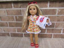 american girl julies retired bathing yellow bathing suit set