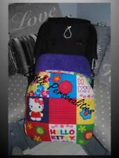 purple pink blue hello kitty universal stay put buggy/pram blanket/footmuff