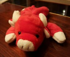 "Ty Beanie Snort 1995 Red Bull 8.5"" Stuffed Plush PVC"