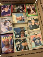 HUGE LOT - MLB SURPRISE BASEBALL CARDS OVER 1000+ TRADING CARDS 1980s - 1990s 3C