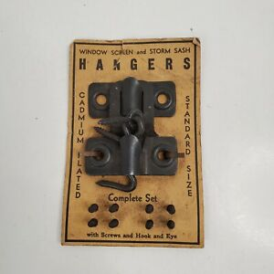Vtg Storm Window Sash Hangers 1 Set Standard Household Hardware #1890181 New