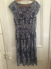 Batik Print Fit And Flare Dress Size 10 Pretty Elasticated Waist NEW Tags