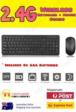 Slim 2.4GHz Cordless Wireless Keyboard And Optical Mouse Combo for PC Laptop AU