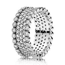 "Original Pandora Ring 196313CZ W58 ""Funkelnde Brillianz"" Zirkonia 925 Silber"