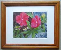 Begonia Flowers Still Life Floral Original Oil Painting Hand-painted Framed O/C
