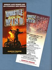 """Andrew Lloyd Webber """"WHISTLE DOWN THE WIND"""" 1998 London Aldwych Opening Flyer"""