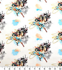 Wonder Woman Power Metallic Camelot 100% Cotton fabric by the yard