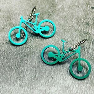 Boone Titanium Mountain Bike Earrings Many Color Options Made in USA