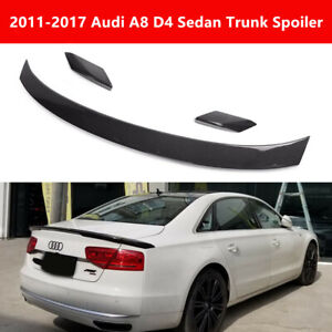 Fit Audi A8 D4 Sedan 2011-17 Real Carbon Fiber Trunk Spoiler Rear Wing A Style